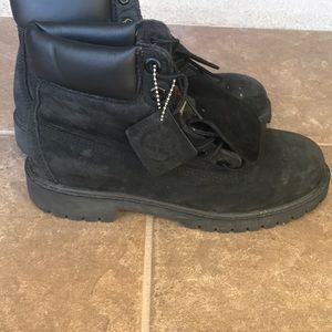 524dbf1a5188 Other - Black suede timberland size 6 boot gently worn